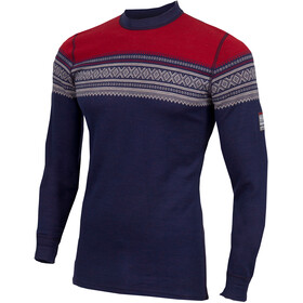 Aclima DesignWool Marius Longsleeve Shirt Men blue/colourful